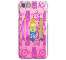 Pink Born To Surf Pink Tiki iPhone Case/Skin