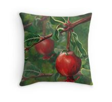 Queen Mary's Pomegranate Throw Pillow