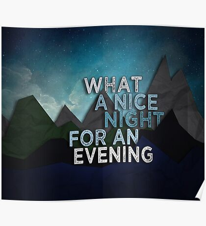 What A Nice Night  Poster
