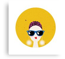 Sunglasses glamour woman - leo horoscope. Canvas Print
