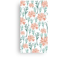 CORAL FLOWERS Canvas Print
