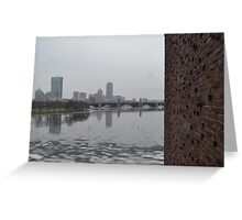 Rainy Day in Boston Greeting Card
