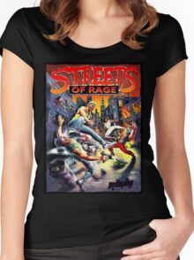 Streets of Rage ★ Women's Fitted Scoop T-Shirt