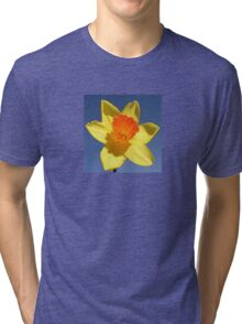 Yellow and Orange Colored Daffodil Close Up Tri-blend T-Shirt