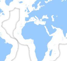Light blue world map Sticker