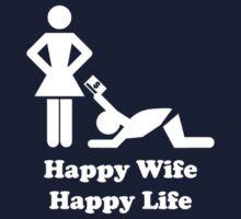 Happy Wife Happy Life Husband Holiday Wedding One Piece - Long Sleeve