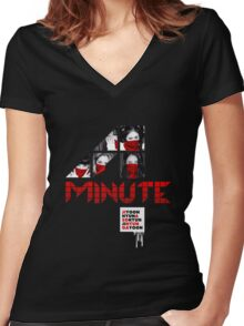 4MINUTE HATE Women's Fitted V-Neck T-Shirt