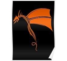 Tribal Life - Wyvern - orange Poster