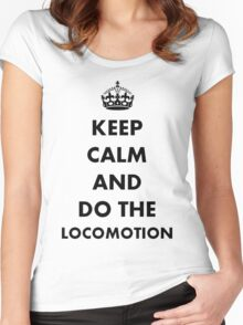 Keep Calm and Do The Locomotion Women's Fitted Scoop T-Shirt