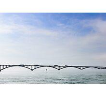 Peace Bridge in the Fog Photographic Print