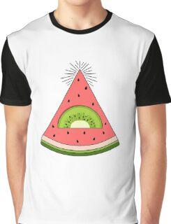 Watermelon X Kiwi Graphic T-Shirt