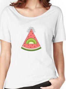 Watermelon X Kiwi Women's Relaxed Fit T-Shirt