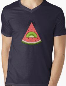 Watermelon X Kiwi Mens V-Neck T-Shirt
