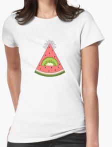 Watermelon X Kiwi Womens Fitted T-Shirt