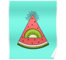 Watermelon X Kiwi Poster