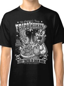Tasty Fried Chicken- Black and White version Classic T-Shirt