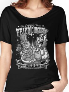 Tasty Fried Chicken- Black and White version Women's Relaxed Fit T-Shirt