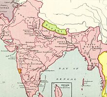Old map of India by franceslewis