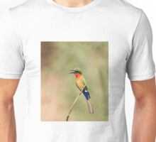 Red-throated Bee-eater near Simenti Unisex T-Shirt