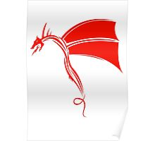 Tribal Life - Wyvern - red Poster