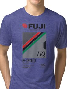 Retro VHS tape vaporwave aesthetic Tri-blend T-Shirt