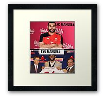 LFC marquee signing/FSG's marquee signing Framed Print