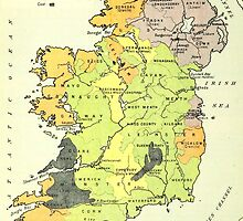 Old map of Ireland by franceslewis