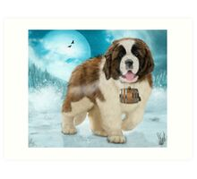 On A Mission - The Saint Bernard Art Print