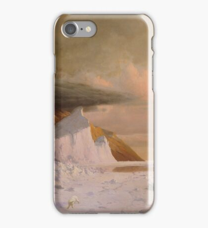 William Bradford , An Arctic Summer, Boring Through the Pack in Melville Bay iPhone Case/Skin