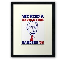 Bernie Sanders Revolution Framed Print