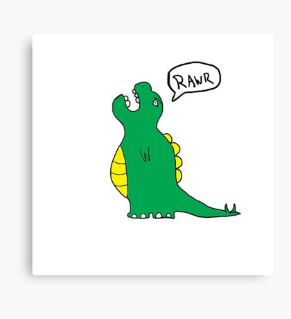 Charlie the dinosaur Canvas Print