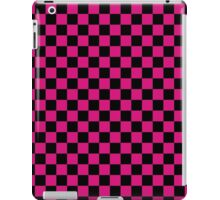 Checkered pattern. Hot pink and black check pattern. Checker board pattern. iPad Case/Skin