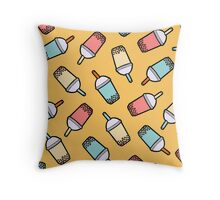 Bubble Tea Pattern Throw Pillow