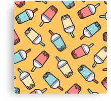 Bubble Tea Pattern Canvas Print