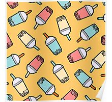Bubble Tea Pattern Poster