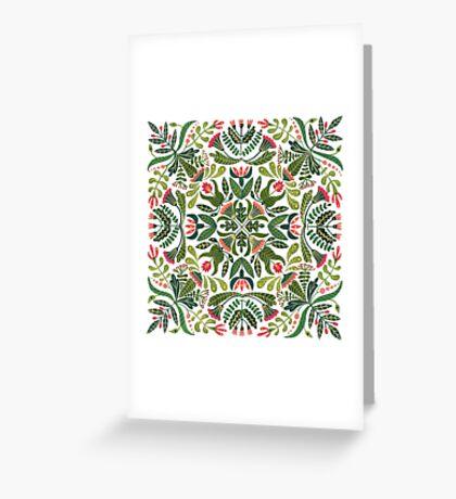 Little red riding hood - mandala pattern Greeting Card