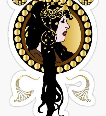 Art Nouveaux Lady  Sticker