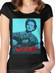 WOODY GUTHRIE Women's Fitted Scoop T-Shirt