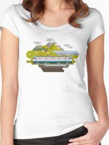 Railway Locomotive #40 Women's Fitted Scoop T-Shirt