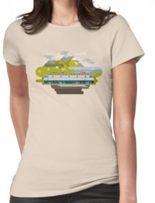 Railway Locomotive #40 Womens Fitted T-Shirt