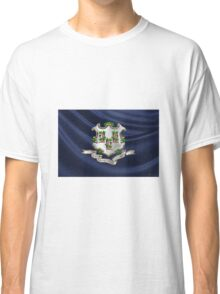Connecticut Coat of Arms over State Flag Classic T-Shirt