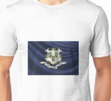 Connecticut Coat of Arms over State Flag Unisex T-Shirt