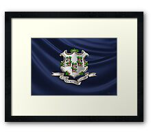 Connecticut Coat of Arms over State Flag Framed Print