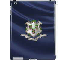 Connecticut Coat of Arms over State Flag iPad Case/Skin