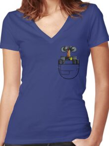 POCKET WASTE ALLOCATION LOAD LIFTER Women's Fitted V-Neck T-Shirt