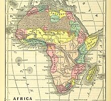 Old map of Africa by franceslewis