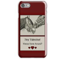 Wanna Horse Around? Horses in Pencil, Realism Art iPhone Case/Skin