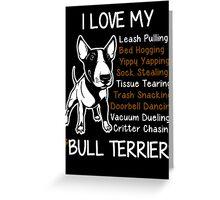 Bull Terrier Lover Greeting Card