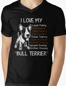 Bull Terrier Lover Mens V-Neck T-Shirt