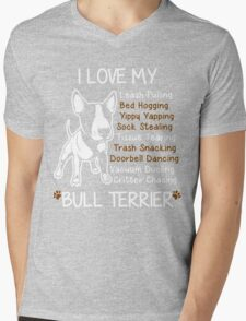 Bull Terrier Lover Mens V-Neck T-Shirt